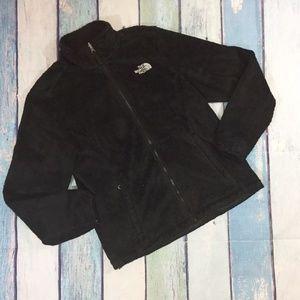 The North Face TNF Black Zip Up Fleece Jacket M
